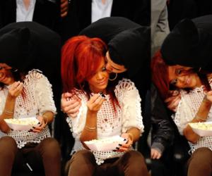 rihanna, Drake, and kiss image