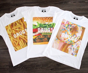 cheeseburger, French Fries, and clothing image