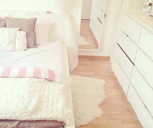 bedroom, cozy, and white image