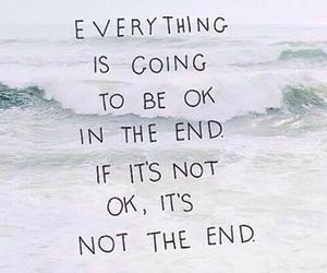 ocean, quote, and ok image