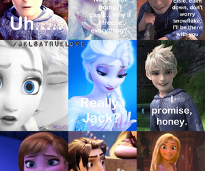 frozen, jack, and elsa image
