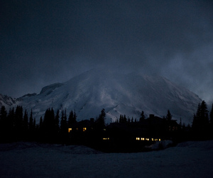 mountains, night, and nature image