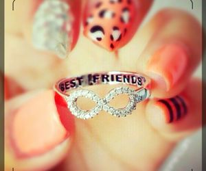 ring, nails, and best friends image