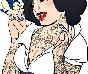 disney, tattoo, and snow white image