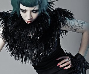 alternative, green hair, and model image