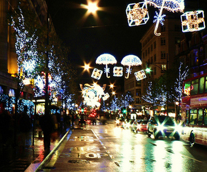 lights, christmas, and london image