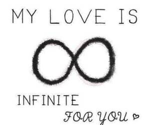 forever, you, and infinite image