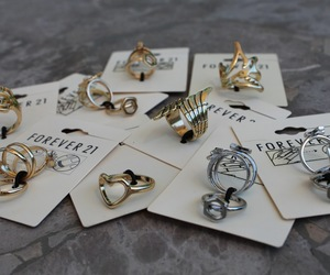 fashion, forever 21, and rings image