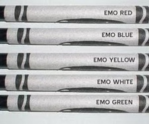 colours, emo, and funny image