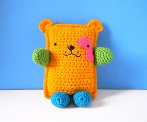 adorable, bear, and orange image