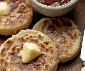 crumpets, food, and butter image
