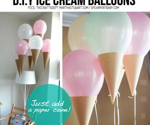 diy, balloons, and ice cream image