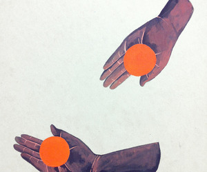 abstract, drawing, and hands image