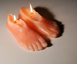 feet, art, and candle image