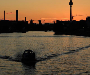 berlin and sunset image