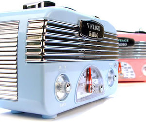 radio, vintage, and blue image