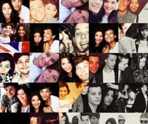 black and white, elounor, and larry image