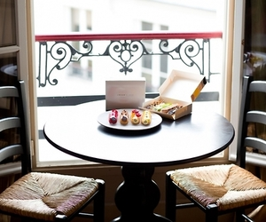 balcony, cafe, and chocolate image