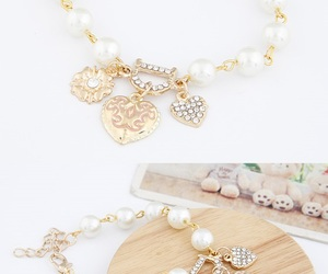 bracelet, candy, and pearl image