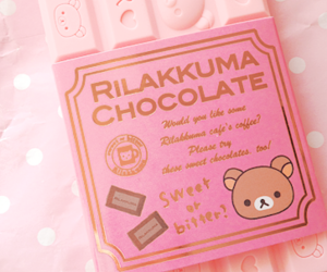 kawaii, chocolate, and pink image