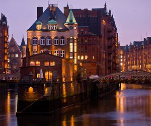 germany, hamburg, and lights image