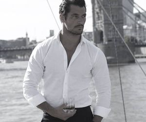 black and white, David Gandy, and Hot image