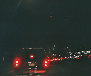 car, highway, and night image