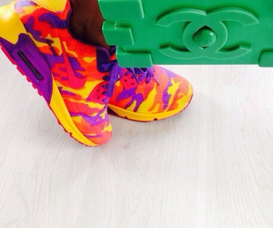 chanel, nike, and colorful image