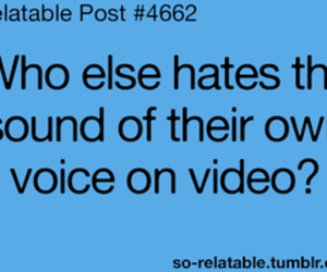 voice, video, and quote image