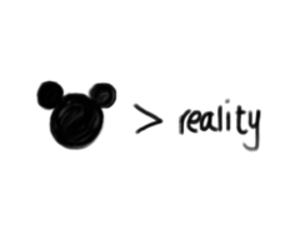 reality, disney, and quote image