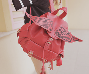 bag, wings, and backpack image
