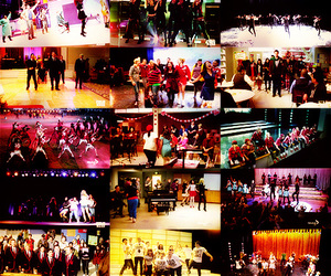 cast, finn, and glee image