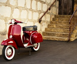 moped, scooter, and Vespa image