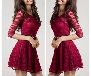 dress, red, and lace image