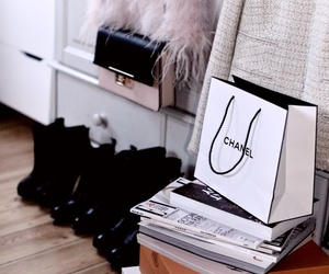 black, chanel, and love image