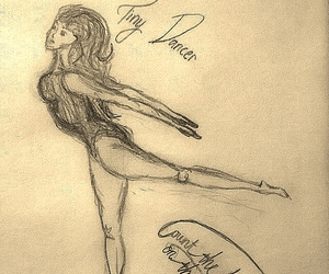 dance, dancer, and drawing image