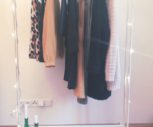 clothes, clothes rack, and room image