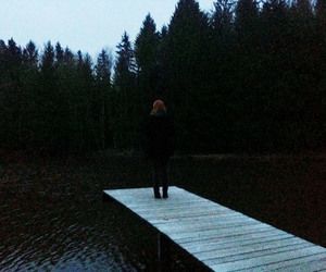 art, forest, and girl image