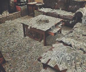 money, rich, and room image