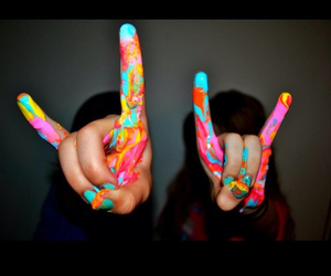 colors, hands, and paint image
