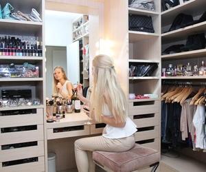 clothes, closet, and makeup image