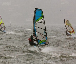 windsurf, windsurfing, and winter surf image