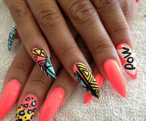 nails, pink, and pow image