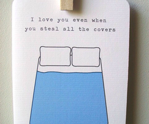 love, quote, and bed image