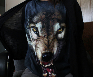 awesome, shirt, and wolf image