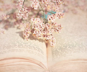 book, flowers, and spring image