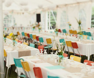 chairs, color, and indie wedding image
