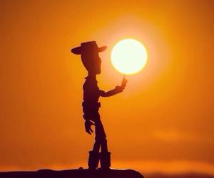 disney, sun, and sunset image
