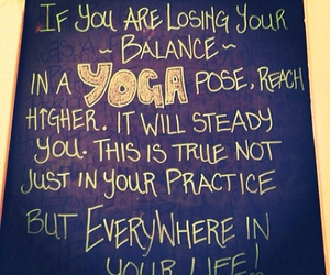 yoga, balance, and life image
