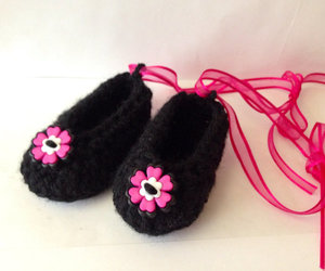 baby, slippers, and ballerina image